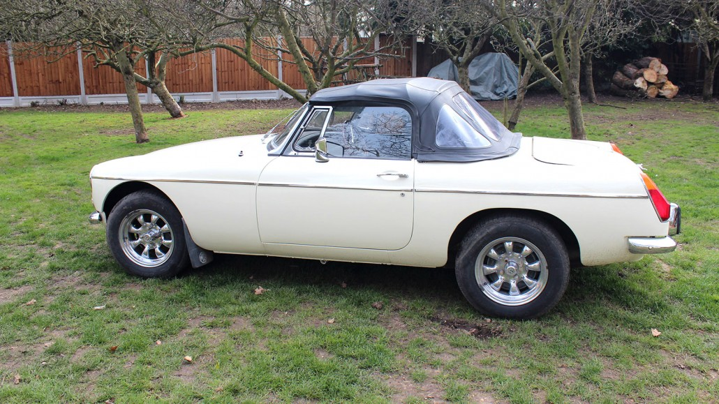 """MGB Roadster 1978 with """"Chrome Bumper Conversion"""" Front and Rear Bumpers"""
